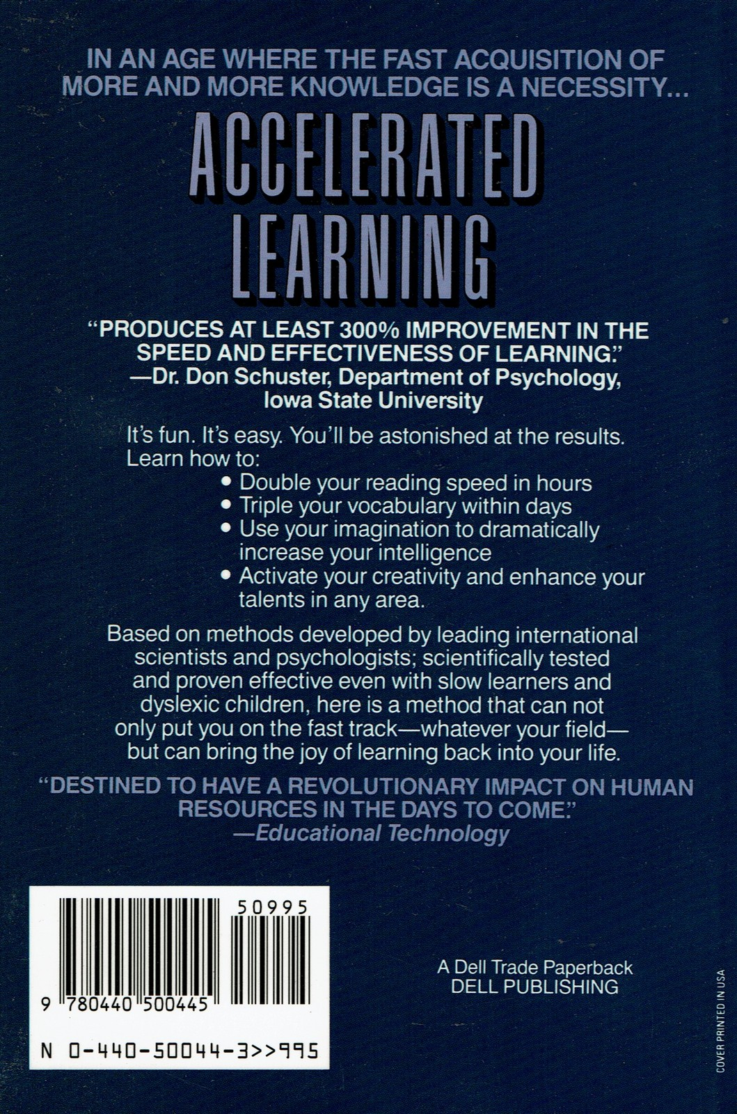 Accelerated Learning, by Colin Rose