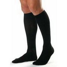 BI115435 - Bsn Jobst Mens Knee-High Ribbed Compression Socks X-Large, Black - $65.92