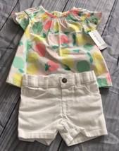 Carter's Baby Girl 2 Piece Short Set, Size 6M, 100% Cotton, NWT - $21.99