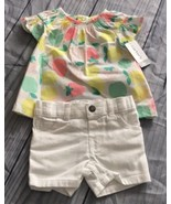 Carter's Baby Girl 2 Piece Short Set, Size 6M, 100% Cotton, NWT - $21.99