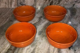 Set Of 4 Royal Norfolk Pumpkin Orange CEREAL/SERVING BOWL-Micro/Dis OK-BRAND New - $39.48