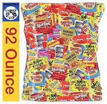 Kids Assorted Candy 92oz Pack Sour Patch Skittles Twizzlers Starburst Swedish Fi