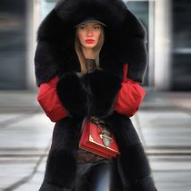 Women Winter Warm Thick Fur Long Sleeve Hoodie Over Coat image 6