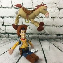 "Disney Pixar Toy Story Mini Bean Bag Woody 10.5"" & Bullseye 8"" Horse Plush Dolls - $22.23"