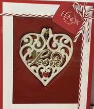 Lenox Love Heart Ornament Gift Charm NIB - $19.79