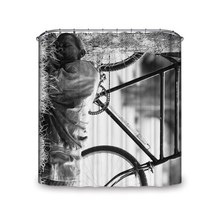 Popeven® Recumbency Man Beside Bicycle True-Life Artistic Style Realisti... - $44.16