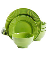 Gibson Plaza Cafe 12-Piece Dinnerware Set in Green - $51.43