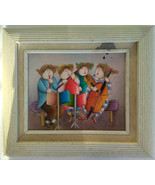 J. Roybal Vintage Large Colorful Art of (4) Children Playing Variety of ... - $74.99
