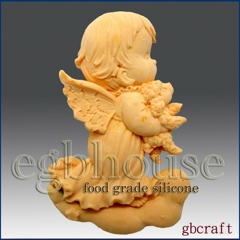 egbhouse, 2D Food Grade Silicone Mold - Praying Angel -Hariel - $24.75