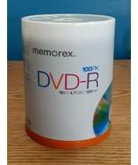 Memorex DVD-R 16X 4.7GB 120 Minute 100 Pack Spindle SEALED  - $19.75