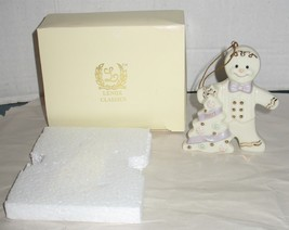 2001 Lenox Classics Porcelain Gingerbread Man Christmas Tree Ornament in Box - $18.81
