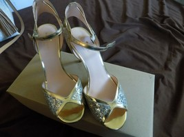 Kate Spade bling high heel vero cuoio bling sandals size 9M - $84.00