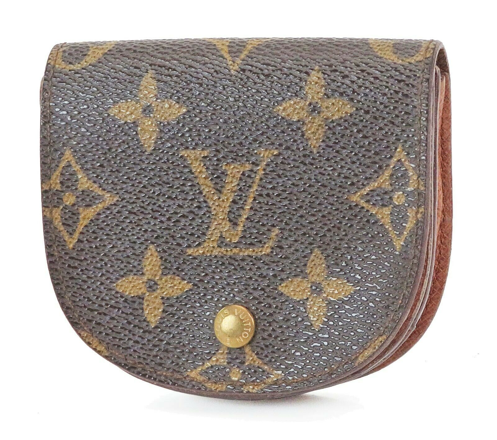 Primary image for Auth LOUIS VUITTON Monogram Coin Case Wallet #2108B