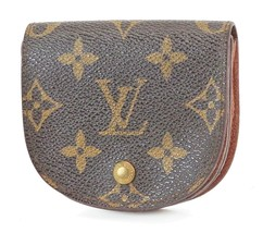 Auth LOUIS VUITTON Monogram Coin Case Wallet #2108B - $195.00