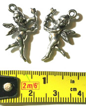CUPID CHERUB WITH ARROW FINE PEWTER PENDANT CHARM image 2