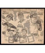 Lynn Rice Wise Johnson Red Sox Sports Cartoon Newspaper Clip Baseball Sk... - $10.99
