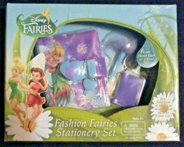 Tinker Bell Peter Pan Disney Fashion Fairies Stationery Gift Set Fairy Pen Diary - $39.58