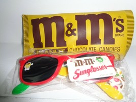 Vintage M&M Sunglasses with Case and Strap Advertising Item 1988, New Wi... - $9.89