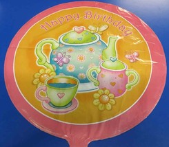 "Tea for You! Pink Orange Kids Birthday Party Decoration Foil 18"" Mylar B... - $7.17"
