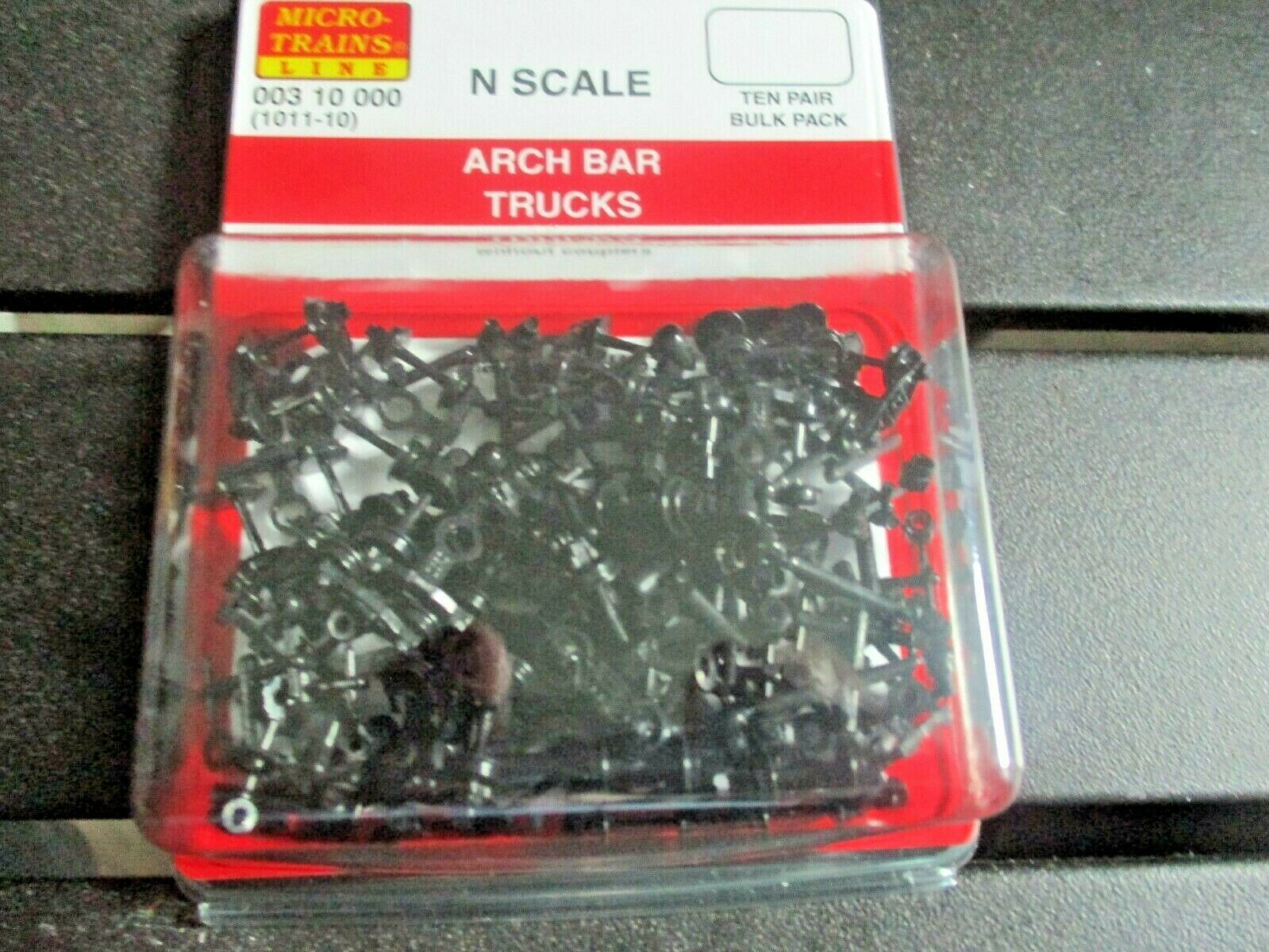 Micro-Trains Stock # 00310000 (1011-10)  Arch Bar Trucks Without Coupler 10 pair