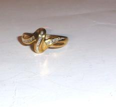 10K Yellow Gold Diamond Baguette & Round Swirl Ring, Size 7.5, 0.25(TCW), I1-I2 - $175.00