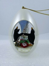 Hallmark Winter Surprise Penguins In Egg Ornament Bristle Tree 1st Serie... - $9.89