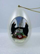 Hallmark Winter Surprise Penguins In Egg Ornament Bristle Tree 1st Serie... - $9.89