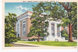 Sumter County Courthouse Sumter, S.C. Vintage Unused Postcard - $2.64