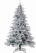 Christmas Tree PE PVC Mixed 1650 Tip 8FT Premium Hinged Deluxe Fir Flock... - $199.99