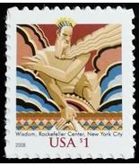 2008 $1 Wisdom, Rockefeller Center, New York City Scott 3766a Mint F/VF NH - $2.58