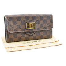 LOUIS VUITTON Damier Ebene Portefeuille Rosebery Long Wallet N63017 LV A... - $320.00