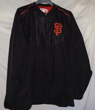MLB San Francisco Giants Majestic Cool Base 1/2 Zip Blue BP Cage Jacket ... - $44.55