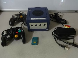 TESTED Nintendo Gamecube Purple Console System + Cords Mem Card Controll... - $75.23