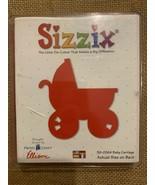 Sizzix Large Red Original Die Cutter ~ BABY CARRIAGE ~ Scrapbook Cuts St... - $9.90