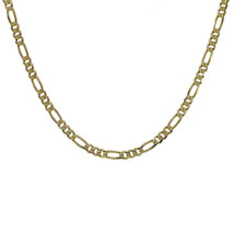 "Diamond Cut Figaro Link Chain 14K Yellow Gold 20"" long - $1,029.60"