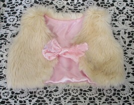 OG Our Generation Dolls Fuzzy Vest With Pink Bow & Lining by Battat - $7.91