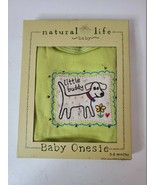 Natural Life Baby Boys One Piece Tee Size 3-6 Months Green White Short S... - $25.99