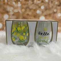 Home Essentials Set Of 2 Stemless Wine Glass 21 Oz Free Shipping - $34.65