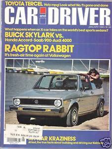 Primary image for Car and  Driver Magazine January  1980
