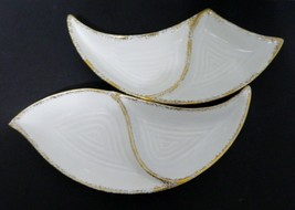 California Pottery Gold Swirl Divided Dishes Mid Century Art Pottery SG20 USA - $21.66