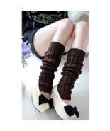Knitted Warm Leg Warmers Cotton Cable Knit Knee High Socks - $6.99