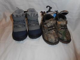 Boy's Toddler Garanimals Boots 2 Pair Size 5 Realtree Camo & Blue NEW - £22.08 GBP