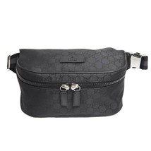 NEW Gucci Men's Black Nylon GG Guccissima Web Stripe Fanny Pack Waist Sl... - $604.75