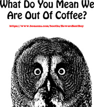 coffee quote owl printable art bird animal art clipart png digital download - $2.99