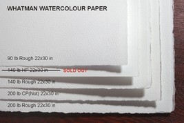 Whatman Watercolor Paper (22x30 in) - set of 4 different sheets - Free S... - $84.49