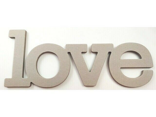 The Paper Studio Chipboard Shapes Love Word #340059