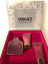 Versace Jeans Couture Glam Perfume 2.5 Oz Eau De Toilette Spray 3 Pcs Gift Set image 2