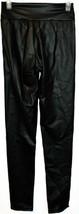 Windsor Women's Black Faux Leather High-Rise Upgrade Ya Liquid Leggings S NWT image 2