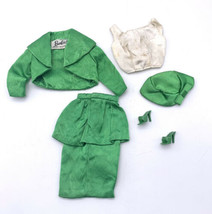 1963 Barbie Theatre Date Green Satin Outfit #959 Complete! - $89.10