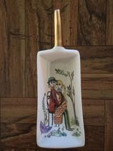Vintage Ker Artis Italian Porcelain Small Gold Handled Hand Painted Scoop Dish - $17.85